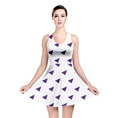 Triangle Purple Blue White Reversible Skater Dress