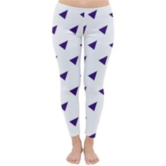 Triangle Purple Blue White Classic Winter Leggings