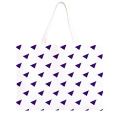 Triangle Purple Blue White Large Tote Bag