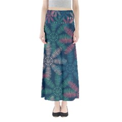 Spring Flower Red Grey Green Blue Maxi Skirts