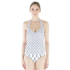 Woman Plus Sign Halter Swimsuit