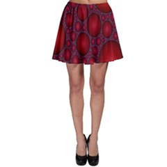 Voronoi Diagram Circle Red Skater Skirt