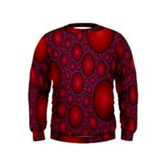 Voronoi Diagram Circle Red Kids  Sweatshirt