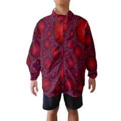 Voronoi Diagram Circle Red Wind Breaker (Kids)