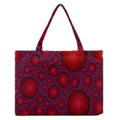 Voronoi Diagram Circle Red Medium Zipper Tote Bag