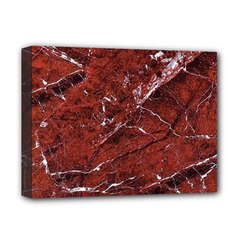 Texture Stone Red Deluxe Canvas 16  x 12