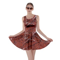 Texture Stone Red Skater Dress