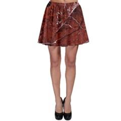 Texture Stone Red Skater Skirt