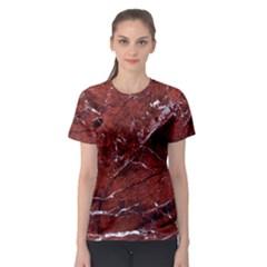 Texture Stone Red Women s Sport Mesh Tee