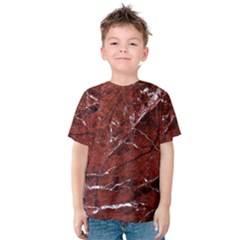 Texture Stone Red Kids  Cotton Tee