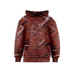 Texture Stone Red Kids  Pullover Hoodie