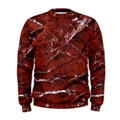 Texture Stone Red Men s Sweatshirt