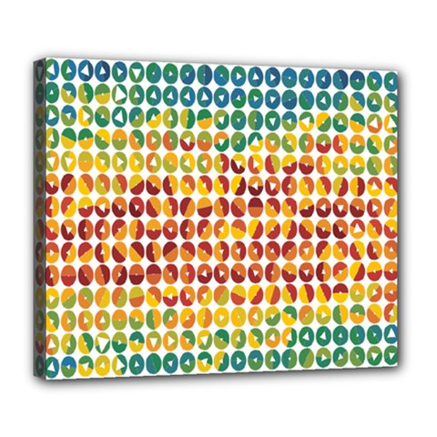 Weather Blue Orange Green Yellow Circle Triangle Deluxe Canvas 24  x 20