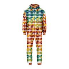 Weather Blue Orange Green Yellow Circle Triangle Hooded Jumpsuit (Kids)