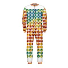 Weather Blue Orange Green Yellow Circle Triangle OnePiece Jumpsuit (Kids)