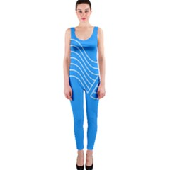 Waves Blue Sea Water OnePiece Catsuit
