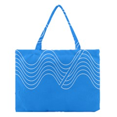 Waves Blue Sea Water Medium Tote Bag