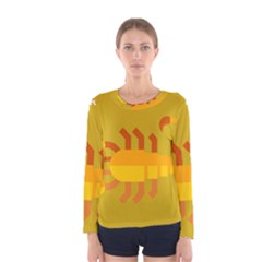 Animals Scorpio Zodiac Orange Yellow Women s Long Sleeve Tee
