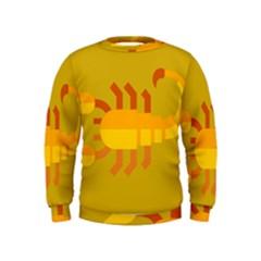 Animals Scorpio Zodiac Orange Yellow Kids  Sweatshirt