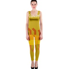 Animals Scorpio Zodiac Orange Yellow OnePiece Catsuit