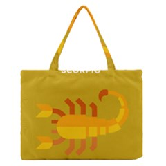 Animals Scorpio Zodiac Orange Yellow Medium Zipper Tote Bag
