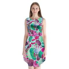 Frosted Sea Glass Sleeveless Chiffon Dress