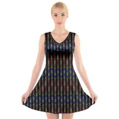 Dna V Neck Sleeveless Skater Dress