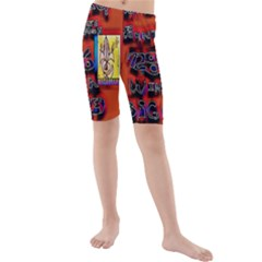 BIG RED SUN WALIN 72 Kids  Mid Length Swim Shorts