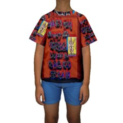 BIG RED SUN WALIN 72 Kids  Short Sleeve Swimwear