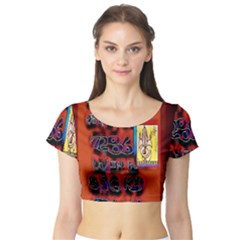 BIG RED SUN WALIN 72 Short Sleeve Crop Top (Tight Fit)