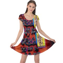 BIG RED SUN WALIN 72 Cap Sleeve Dresses