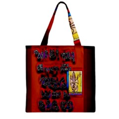 BIG RED SUN WALIN 72 Zipper Grocery Tote Bag