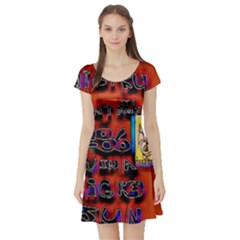 BIG RED SUN WALIN 72 Short Sleeve Skater Dress