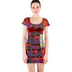 BIG RED SUN WALIN 72 Short Sleeve Bodycon Dress
