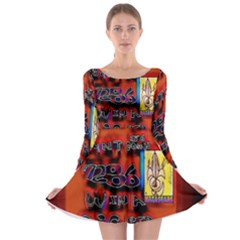 BIG RED SUN WALIN 72 Long Sleeve Skater Dress