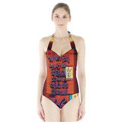 BIG RED SUN WALIN 72 Halter Swimsuit