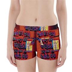 BIG RED SUN WALIN 72 Boyleg Bikini Wrap Bottoms