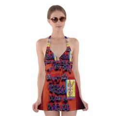 BIG RED SUN WALIN 72 Halter Swimsuit Dress