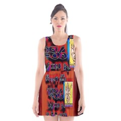 BIG RED SUN WALIN 72 Scoop Neck Skater Dress