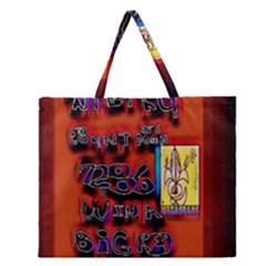 BIG RED SUN WALIN 72 Zipper Large Tote Bag