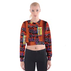 BIG RED SUN WALIN 72 Women s Cropped Sweatshirt