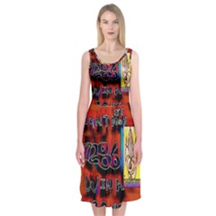 BIG RED SUN WALIN 72 Midi Sleeveless Dress