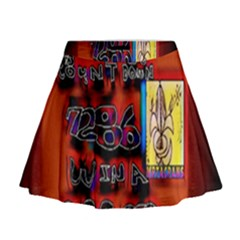 BIG RED SUN WALIN 72 Mini Flare Skirt