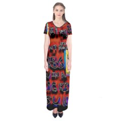 BIG RED SUN WALIN 72 Short Sleeve Maxi Dress
