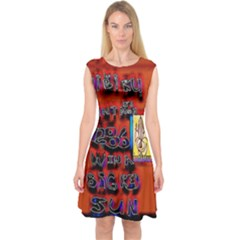 BIG RED SUN WALIN 72 Capsleeve Midi Dress