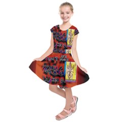 BIG RED SUN WALIN 72 Kids  Short Sleeve Dress