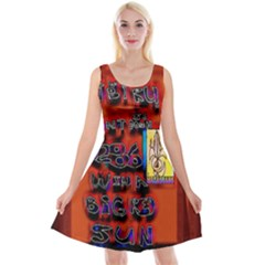 BIG RED SUN WALIN 72 Reversible Velvet Sleeveless Dress