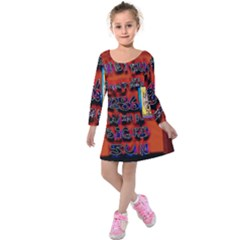 BIG RED SUN WALIN 72 Kids  Long Sleeve Velvet Dress