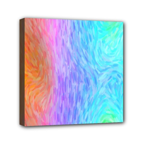 Abstract Color Pattern Textures Colouring Mini Canvas 6  x 6
