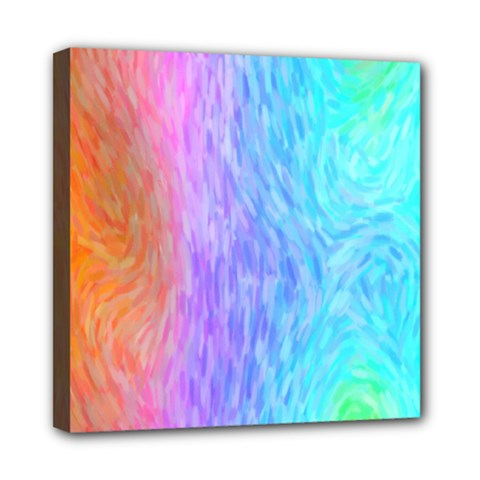 Abstract Color Pattern Textures Colouring Mini Canvas 8  X 8
